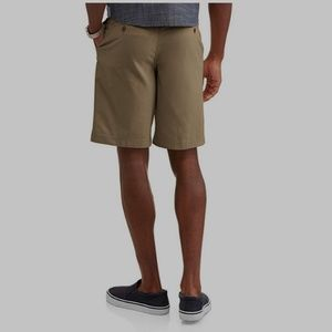 George Above The Knee Flat Front Sidewalk Tan Men/'s Stretch Shorts NEW